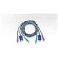 Aten 1.8M KVM Cable PS2M, PS2M, HD15M - PS2M, PS2M