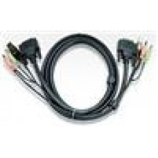 Aten DVI KVM Cable with Audio 3M, DVI,USB and Audio
