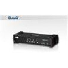 Aten 4 Port USBDVI KVMP Switc w/ USB Hub and Audio, Cables