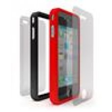 Cygnett Snaps Duo Red & Black Silicon Frame For Iphone4 (LS)