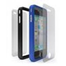 Cygnett Snaps Duo Blue & Black Silicon Ring For Iphone4 (LS)