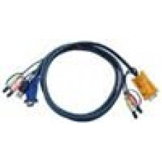 Aten KVM 5M Audio Cable HD15M, USB A M, 2 X 3.5mm