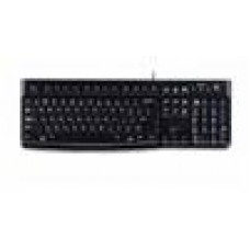 Logitech K120 Keyboard Quiet typing Spill-resistant Durable keys Thin profile Curved space bar Adjustable tilt legs - 920-002582