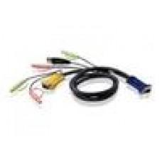 Aten KVM SPHD15M - 3M Cable Audio, USB AM