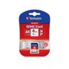 Verbatim SD Card 4GB SDHC C10 CLASS 10, RETAIL PACK