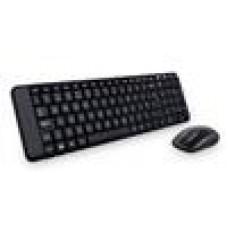 Logitech MK220 Wireless Keyboard & Mouse Combo Much smaller design, same keys 2.4 GHz 128-bit AES encryption Fewer battery hassles - 920-003235