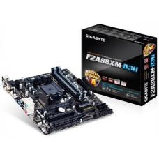Gigabyte GA-F2A88XM-D3H mATX MB FM2+ 4xDDR3 VGA DVI HDMI GbE LAN PCIEx16 2xCrossFire Eyefinity 8xSATA3 USB3.1 USBC 4xUSB3