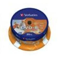 Verbatim DVD-R 4.7GB 25Pk Spindle Wide Inkjet 16x