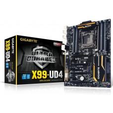 Gigabyte GA-X99-UD4 ATX Gigabyte GA-X99P-SLI MB LGA2011-3 8xDDR4 DP 4K Intel GbE LAN 2xPCIEx16 4xSLI 4xCrossFire M.2 SATAE 10xSATA3 USB-AC 7xUSB3 ATX