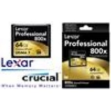 Lexar 800x 64GB Compact Flash CF Card Upto 120MB/s (LS)