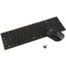 RAPOO 9060 2.4GHz Wireless Optical Keyboard Mouse Combo Black - Spill-Resistant Design