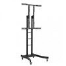 Telehook Floor Heavy Duty TV Cart Height Adjust upto 125kg
