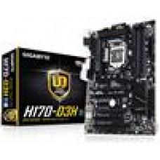 Gigabyte GA-H170-D3H MB LGA1151 4xDDR4 VGA DVI HDMI Intel GbE LAN PCIEX16 2xCrossFire M.2 2xSATAE 6xSATA3 8xUSB3 ATX