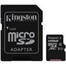 Kingston 128GB MicroSD SDHC SDXC Class10 UHS-I Memory Card 80MB/s Read 10MB/s Write with standard SD adaptor LS->FMK-SDCS-128 SDCS/128GB