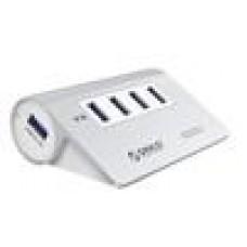 Orico 4x USB3.0 Aluminium Hub No Power Adptr, VI812 Chipset