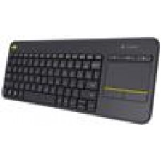 Logitech K400R PLUS  Black Trackpad, Wireless,Media Keys