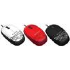 Logitech M105 Corded Optical Mouse Red - High-definition optical tracking Full-size comfort Ambidextrous design- 910-002933
