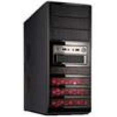 (LS) Casecom CJ-341Case Red 550W mATX/ATX, Red, USB3, 2YR