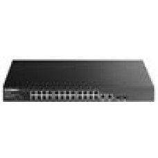 Edimax 24-Port Fast Ethernet PoE+ with 2 Gigabit Combo Ports Web-Smart Switch (400W)