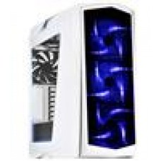 (LS) Silverstone Primera Series white with blue LED + window
