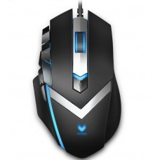 RAPOO V910 RGB MMO Laser Gaming Mouse Black - Upto 8200dpi Programmable Buttons Adjustable Weight (LS)