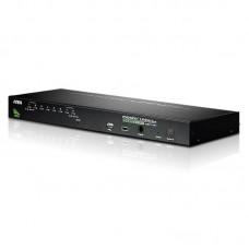 Aten 8 Port Rackmount USB-PS/2 VGA KVMP Switch with USB 2.0 Hub and Daisy Chain