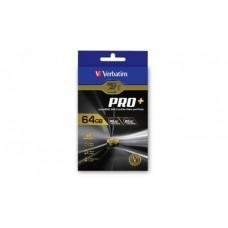 Verbatim Pro+ 4k Micro SDHC 64GB (Class 10 UHS-I) with Adaptor (LS)
