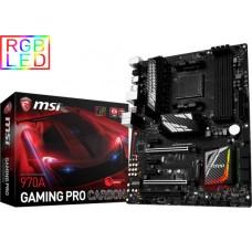 MSI AMD 970A GAMING PRO CARBON RGB LED ATX Motherboard - AM3+ 4xDDR3 2xPCI-Ex16 M.2 TPM RAID TypeC SLI CF
