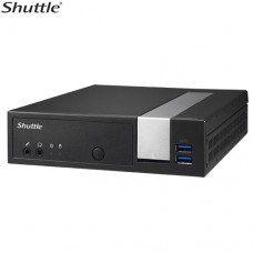 Shuttle DX30 Slim Mini PC 1.3L - Fanless 4K 3xDisplays Celeron J3355 2xDDR3L SODIMM 2.5