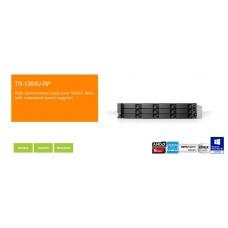 QNAP TS-1263U-RP 2U 12-Bay NAS and iSCSI/ IP-SAN, AMD Quad Core, 4GB, 2 x 1GbE, 1 x 10GbE (SFP+), DUAL PSU