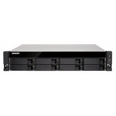 QNAP TS-831XU-RP-4G 8-Bay NAS Alpine AL-314 Quad-Core 1.7 GHz 4GB DDR3 512MB Flash 2x10GbE LAN 2xGbE LAN 1xPCIe 4xUSB3.0 2U Rackmount 250W