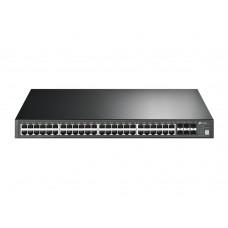 TP-LinkT3700G-52TQ JetStream 52-Port Gigabit Stackable L3 Managed Switch 48 Gigabit Port + 4 Combo Gigabit SFP Slots + 4 10Gb SFP+ Slots 176Gbps