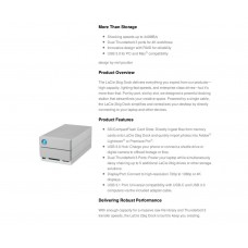 Lacie Seagate 12TB 2big USB-C & Thunderbolt3 [7200rpm] - enterprise class drives