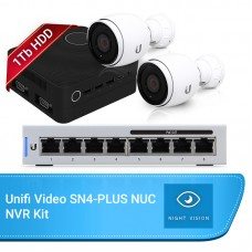 Ubiquiti Unifi Video Budget Bundle – SN4 PLUS NVR 1Tb, 2x G3-AF Cameras & 8 Port Switch