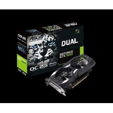 Asus nVidia DUAL-GTX1050-O2G-V2 PCIe Card GDDR5 8K 7680x4320 1xDP 1xHDMI 1xDVI 1518/1404MHz