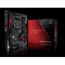 Asus ROG CROSSHAIR VII HERO (WI-FI) ATX MB, 4xDDR4, 5xPCIe, 2xM.2, 6xSATA, RAID, 10xUSD3, WiFi, BT,