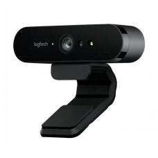 Logitech BRIO 4K Ultra HD Webcam HDR RightLight3 5xHD Zoom Auto Focus Infrared Sensor Video Conferencing Streaming Recording Windows Hello Security