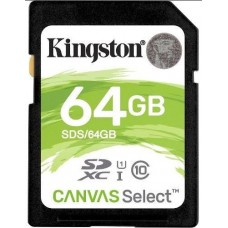 Kingston 64GB SD Card SDHC/SDXC Class10 UHS-I Flash Memory 80MB/s Read 10MB/s Write Full HD for Photo Video Camera Waterproof Shock Proof