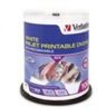 Verbatim DVD-R 4.7GB 100Pk White InkJet 16x