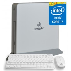 Leader Breeze Visionary 7 Slim PC White with Wireless keyboard & Mouse, Intel Core I7-5500u, 8GB , 1TB, DVDRW, VESA. NO OS, 1 year warranty
