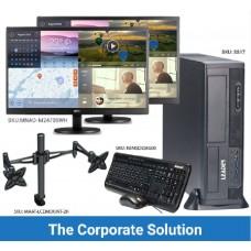Leader Corporate Solution SS17 i5-7400 Desktop Slim PC  Windows 10 Professional 8GB / 250GB M.2. SSD / 3 Years Onsite Warranty, 2x AOC monitors